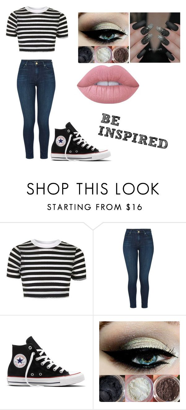 """Untitled #154"" by cruciangyul on Polyvore featuring Topshop, J Brand, Converse and Lime Crime"