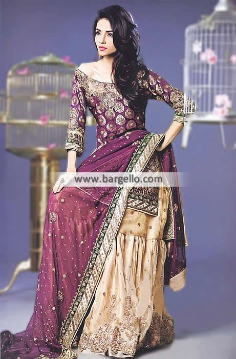 4effe042da Outstanding Bridal Gharara Dress with Awesome Embellishments This  outstanding bridal gharara dress is created k