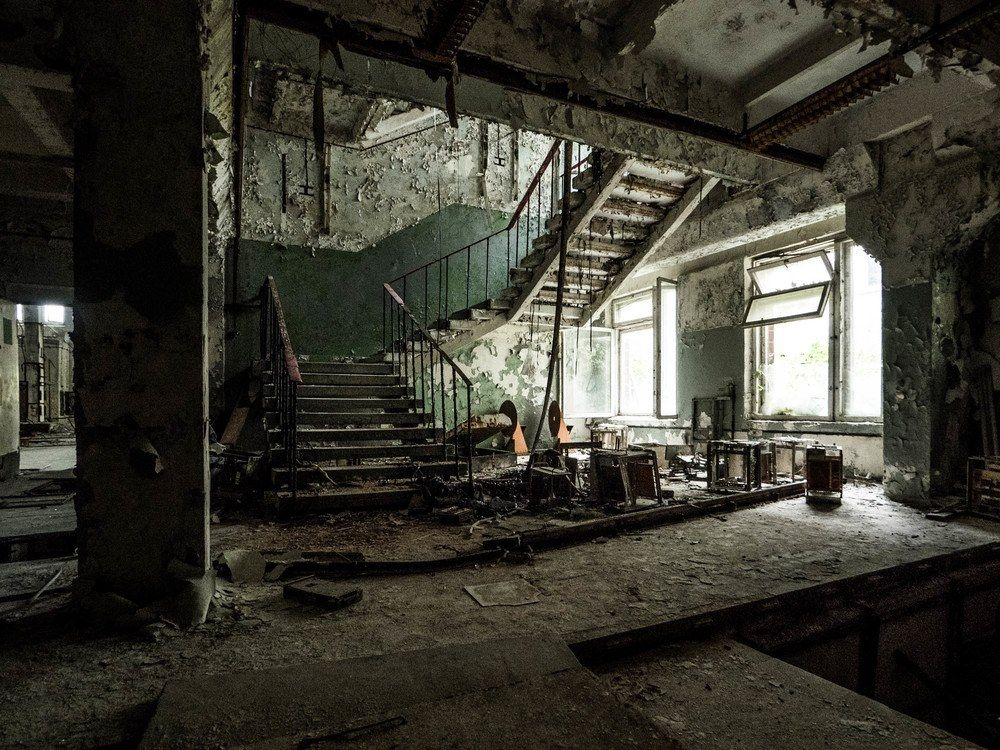 Ukraine: Prypiat abandoned city after the chernobyl disaster