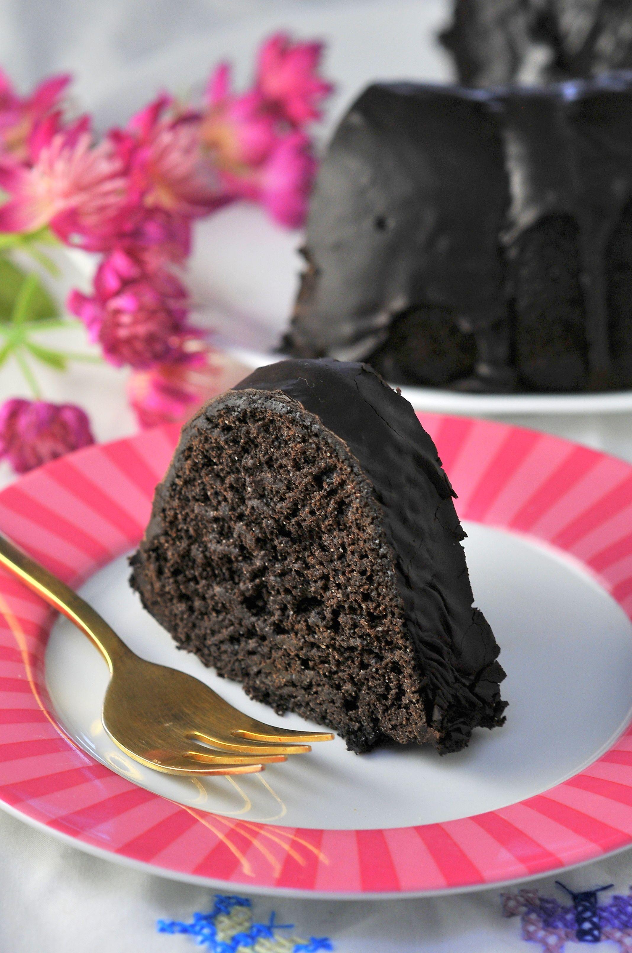 Black chocolate bundt cake kiku corner recipe in 2020