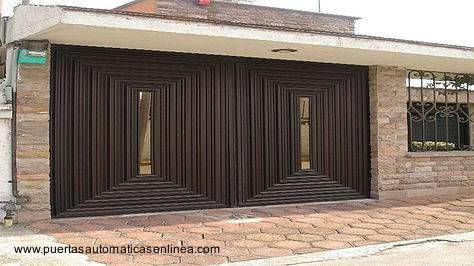 Resultado de imagen para portones de casa de campo con - Puertas de metal para casas ...