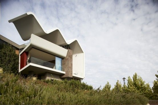 Image Detail For   House With Unusual Wave Like Roof U2013 Ribbon House By  Hartree