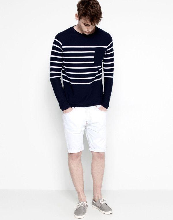 Tendencias Shorts Para Hombre Primavera Verano Modelo Denim Color Blanco Pull And Bear Moda Hombre Verano Ropa De Moda Hombre Moda Masculina Urbana