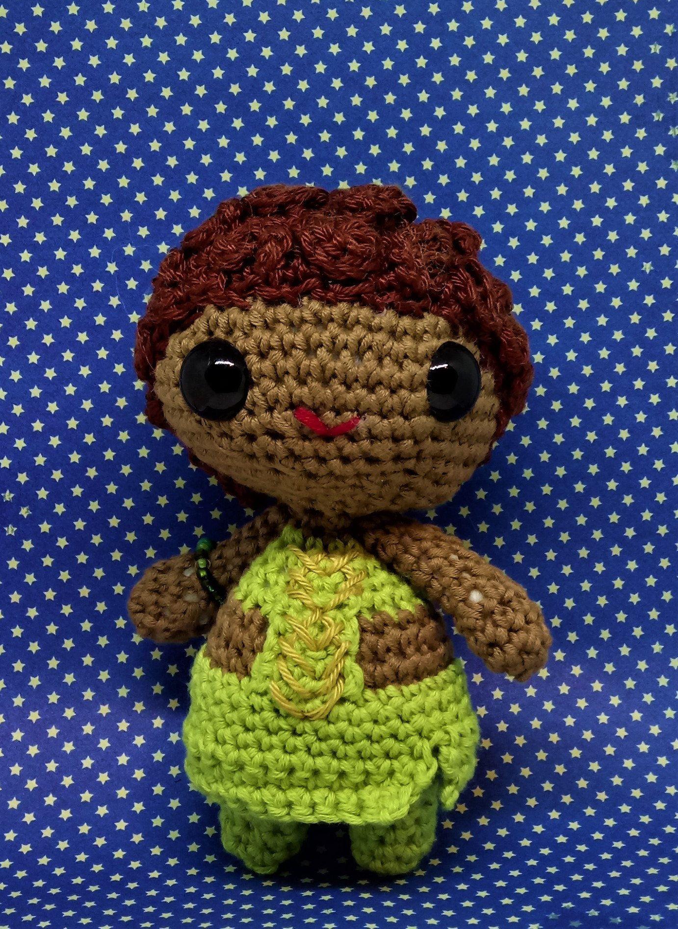 Nakia amigurumi style PDF crochet pattern inspired by Black Panther