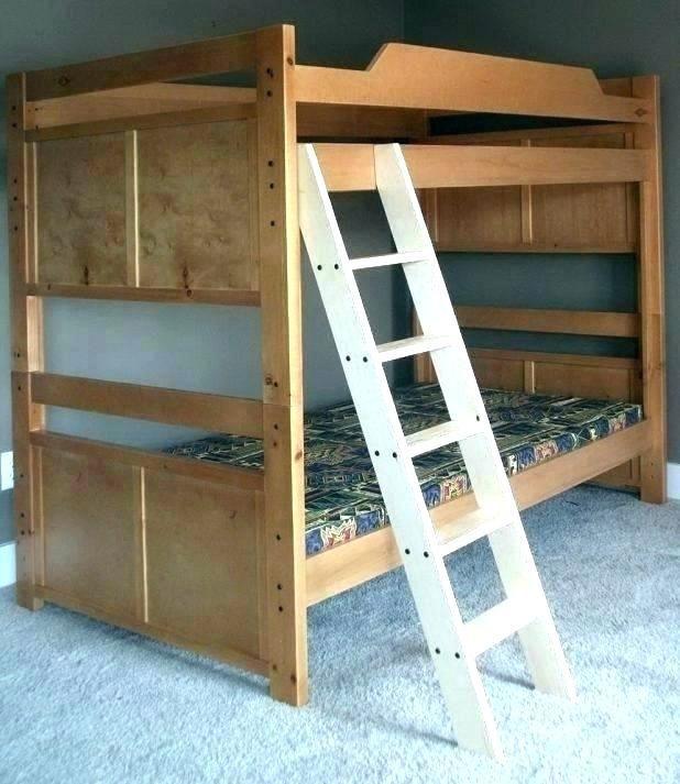 Build Wooden Loft Bed Wooden Bunk Beds Bunk Bed Ladder Bed