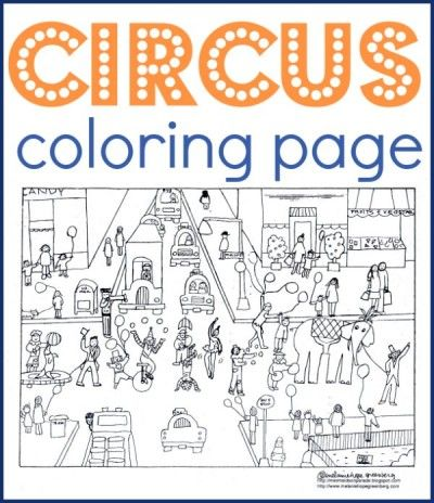 Circus Coloring Page Kid Blogger Network Activities