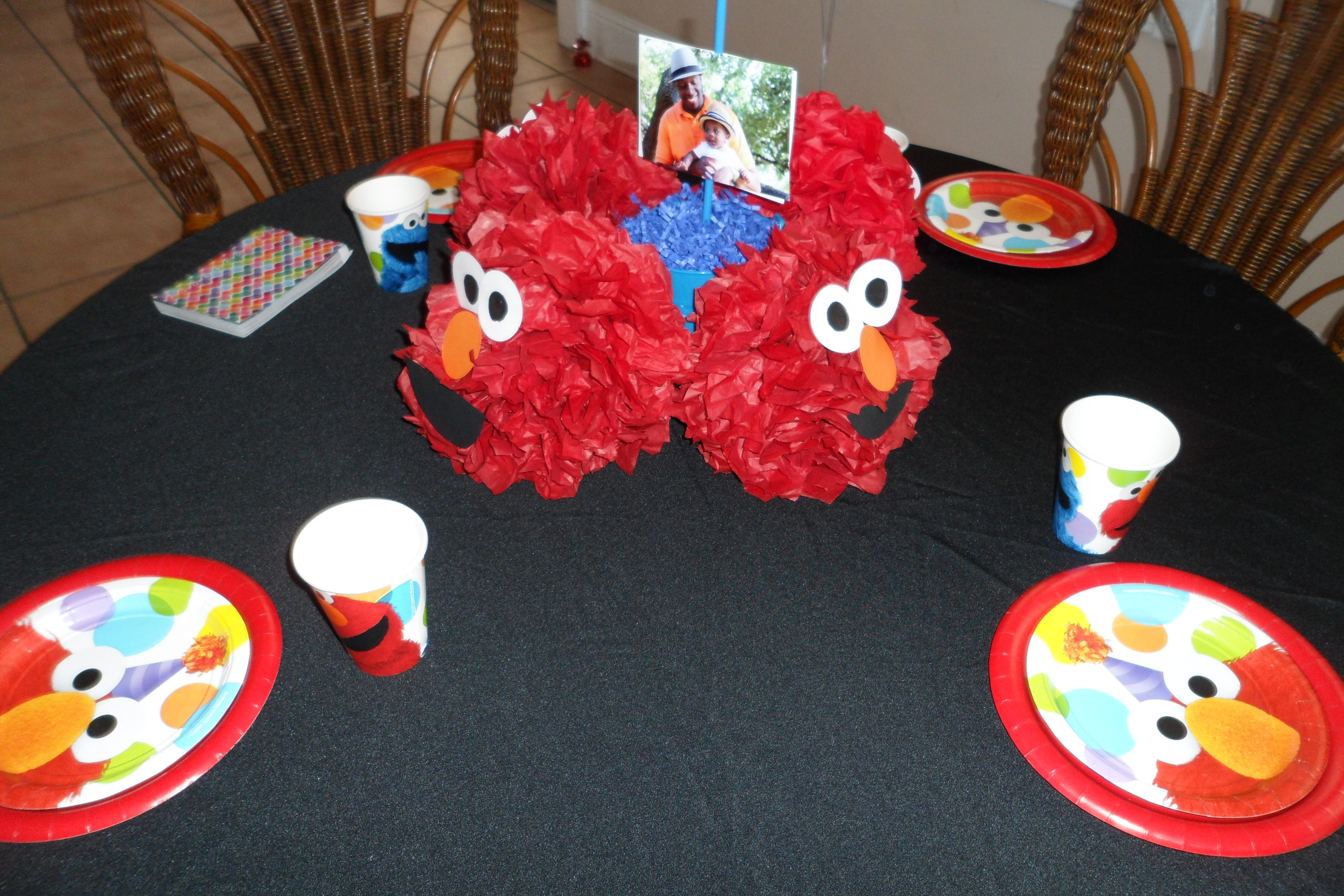Pin By J Ok Party Planning On Elmo Party Elmo Centerpieces Elmo Party Elmo And Friends