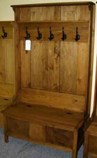 Wood Deacons Bench With Coat Hooks Rustic Furniture Furniture Deacons Bench