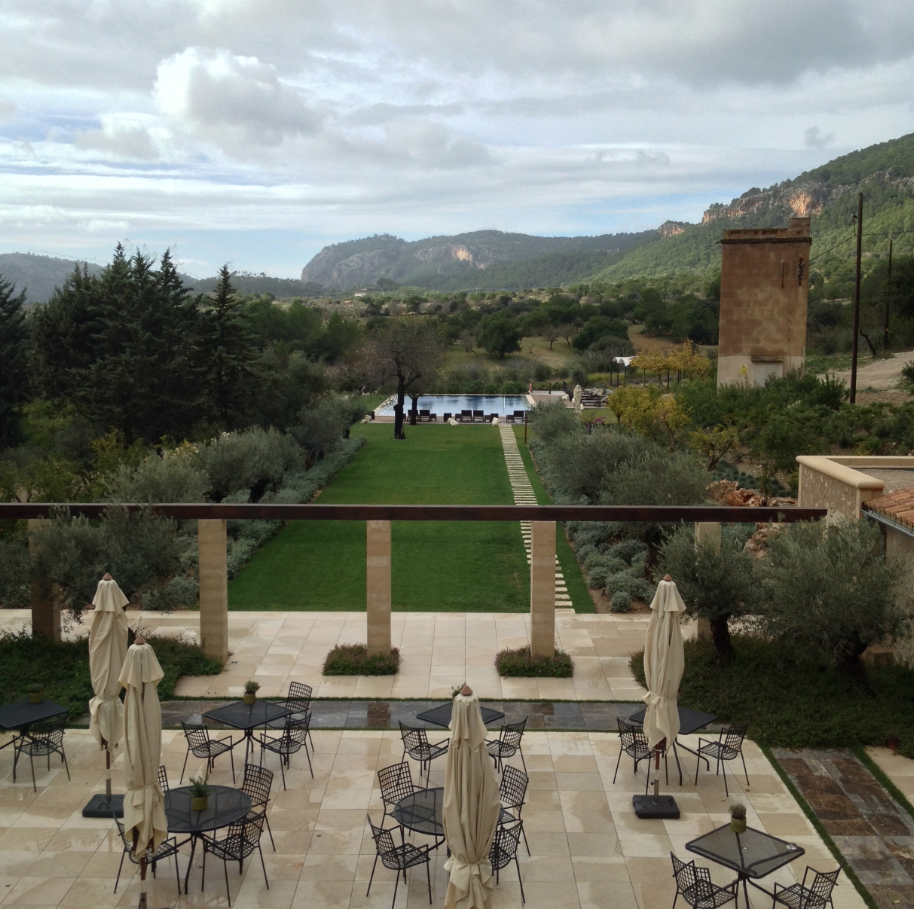 Amazing Hotels| Serafini Amelia| The limestone Castell son Claret in #Majorca, #Spain is known for being a cozy European hideaway. Photo courtesy of T+L's Kathy Roberson.