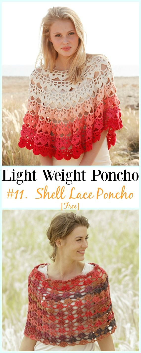 Light weight spring summer poncho free crochet patterns free crochet shell lace poncho free patterns light weight spring summer poncho free dt1010fo
