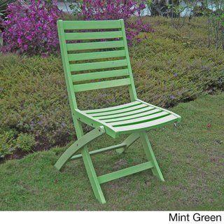 International Caravan Patio Furniture.Royal Fiji Acacia Folding Ladder Back Patio Chair Set Of 2 Mint