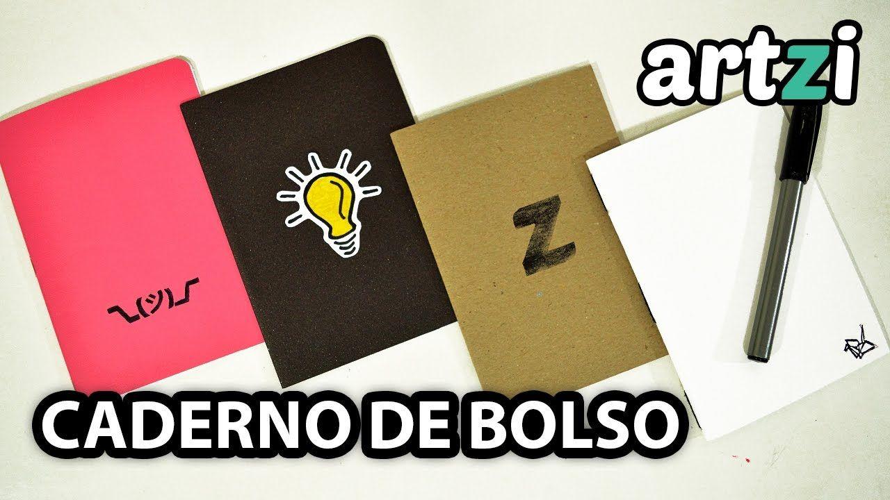 Caderno De Bolso 3 Tipos De Encadernacao Faceis Youtube