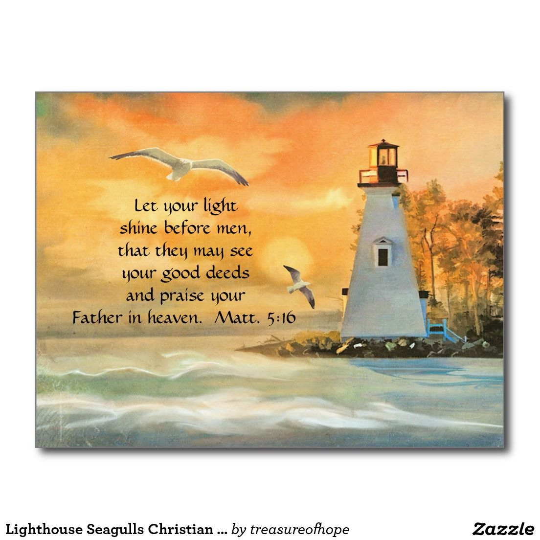 Lighthouse seagulls christian bible verse postcard explore greeting cards banner and more kristyandbryce Choice Image