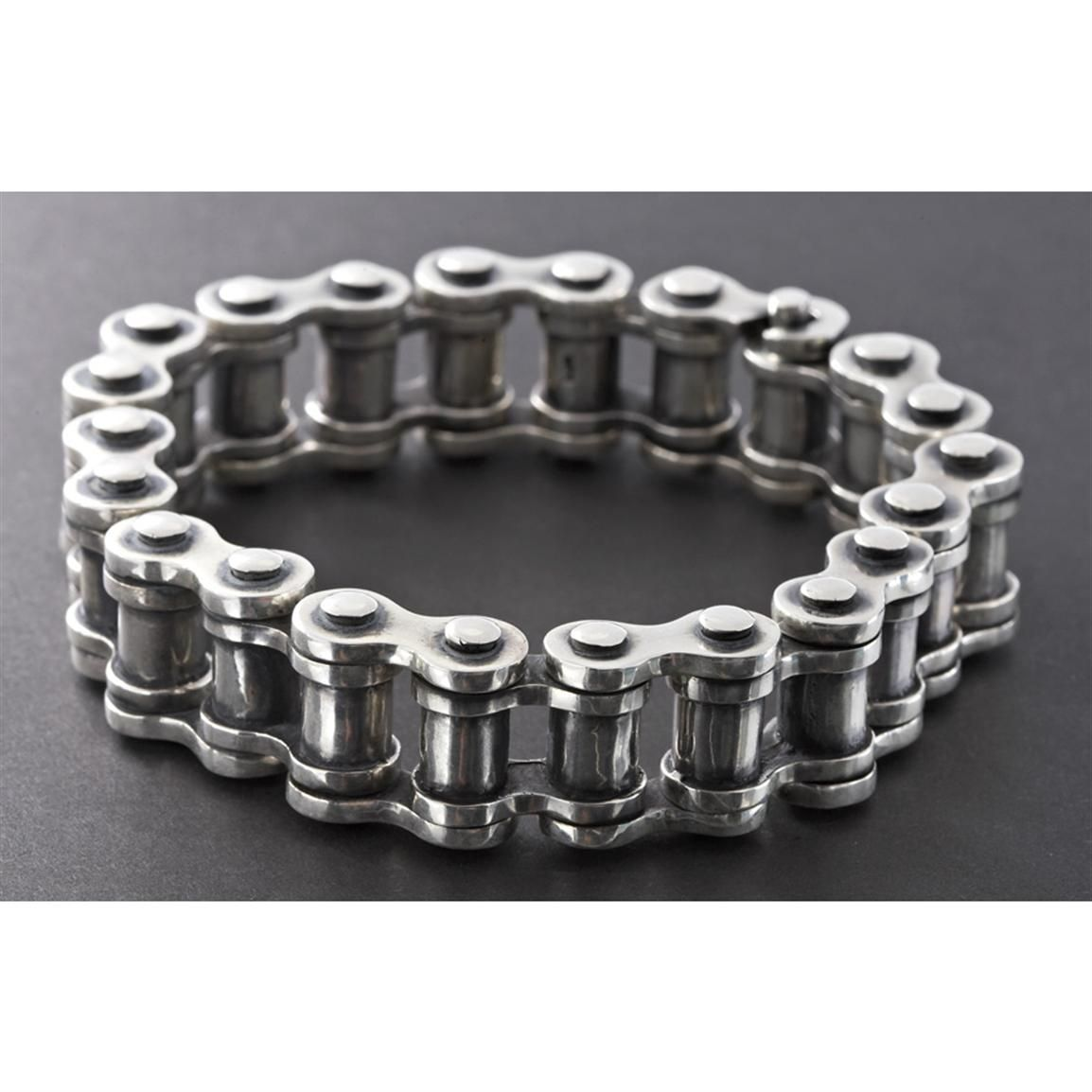 Men S Sterling Silver 9 1 2 Bike Chain Bracelet