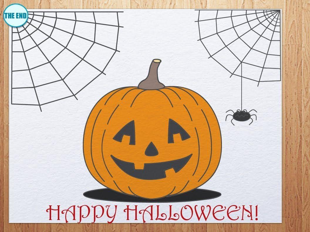 How to draw pumpkin head Pumpkin drawing