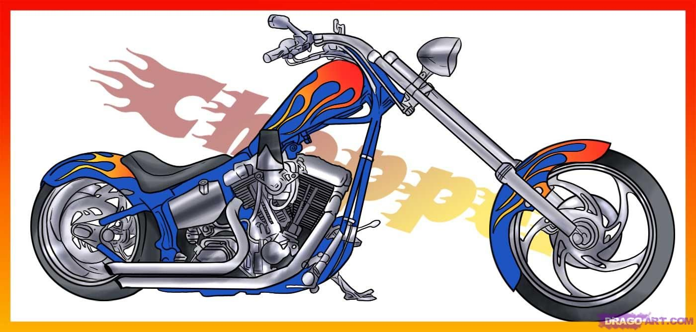 How To Draw A Motorcycle By Dawn With Images Motorcycle Chopper Motorcycle Motorcycle Drawing
