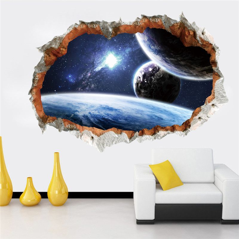 Outer Space Planet Wall Decal Sticker Angelina Room Pinterest
