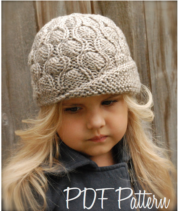 Knitting PATTERN-The Harmony Cloche\' (Toddler, Child, Adult sizes ...
