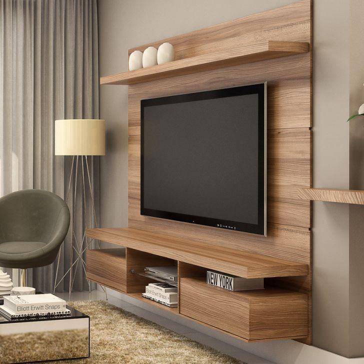 Painel Para Tv Livin 1 8 Macchiato Texture Alto Relevo Hb