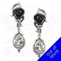 Alchemy Gothic Bacchanal Rose Earrings E347