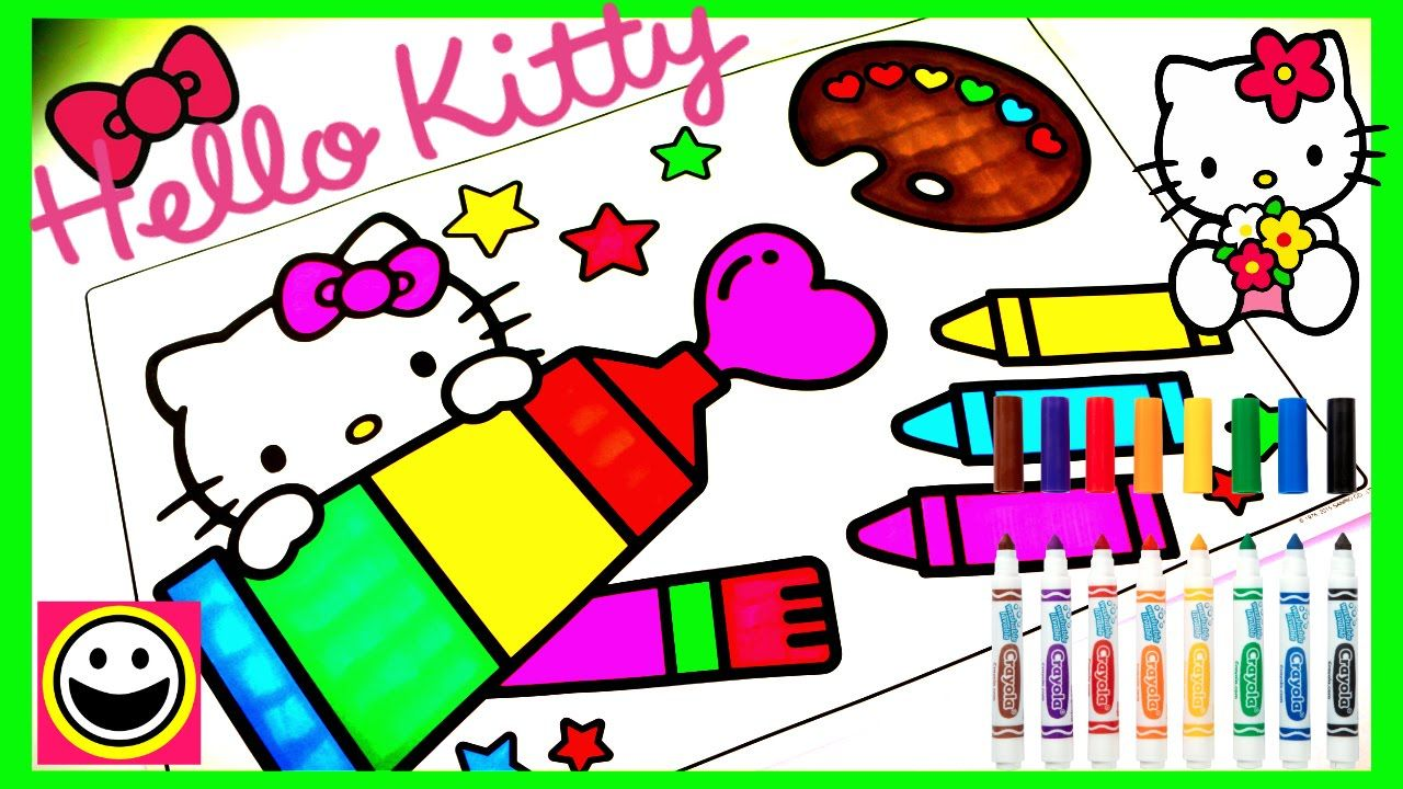 Crayola HELLO KITTY Coloring Pages