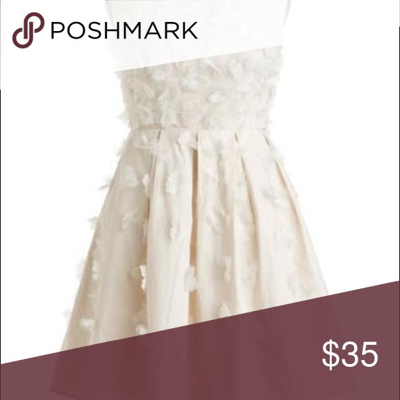 Cream Color Short Strapless Formal Prom Dress The Clair De Lune ...
