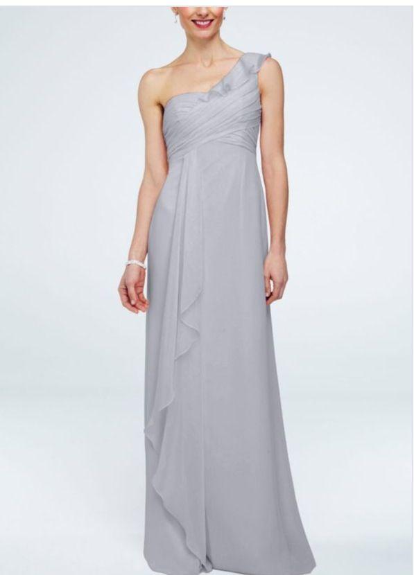 David\'s bridal. Silver bridesmaids dress. | Wedding Dresses ...