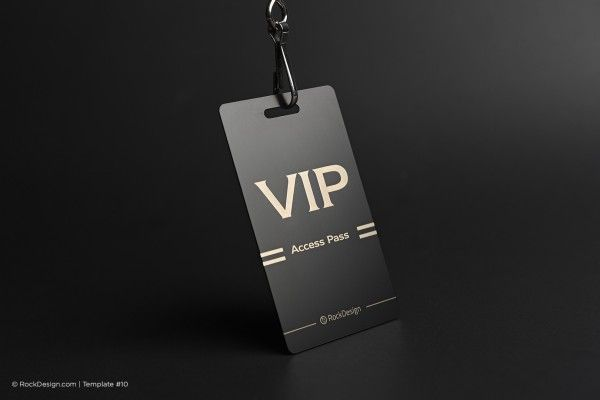 Access Pass Metal Tag Business Card Vip Vip Card Design Vip Pass Design Photography Business Cards Template