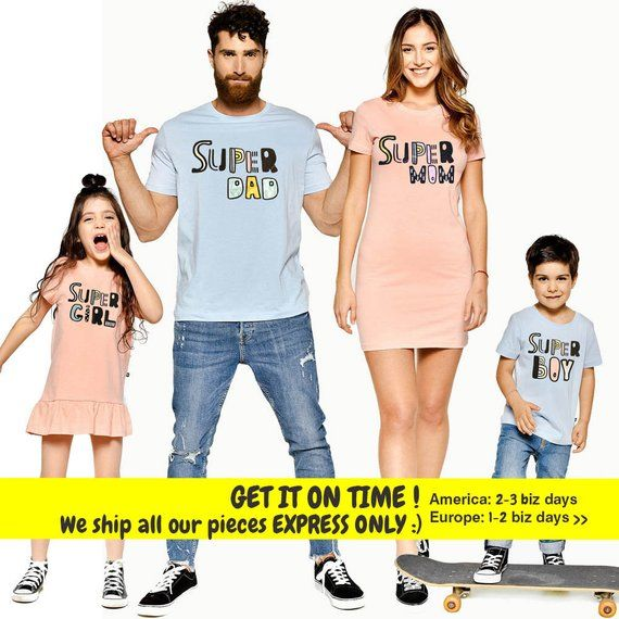 375427f0 Matching Family Outfit, Super Dad, Matching Family Set, Super Mom, Matching  Family Tops, Family Shirts, Gift For Family, Super Family,