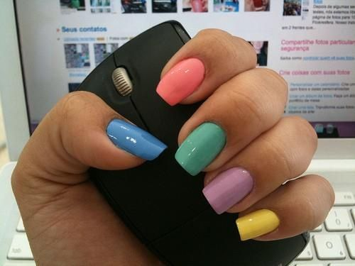Modne Paznokcie Na Lato 2012 Nail Colors Trendy Nails Fun Nails