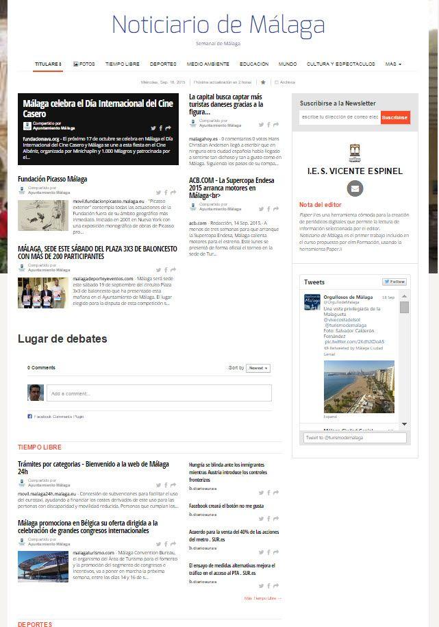 Noticiario de Málaga por Santiago Salazar Alonso