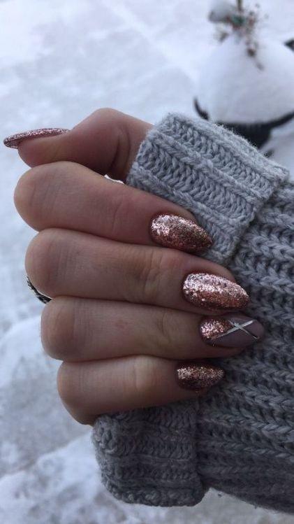 89 Glitter Nail Art Designs For Shiny Sparkly Nails Pinterest