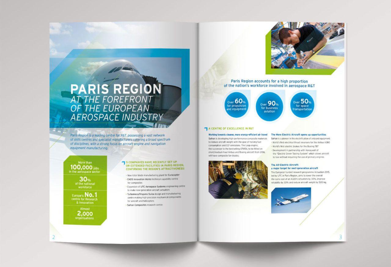 Creation Brochure Plaquette Aeronautique Defense Et Spatiale Paris Region Brochure Plaquette Commerciale Plaquette