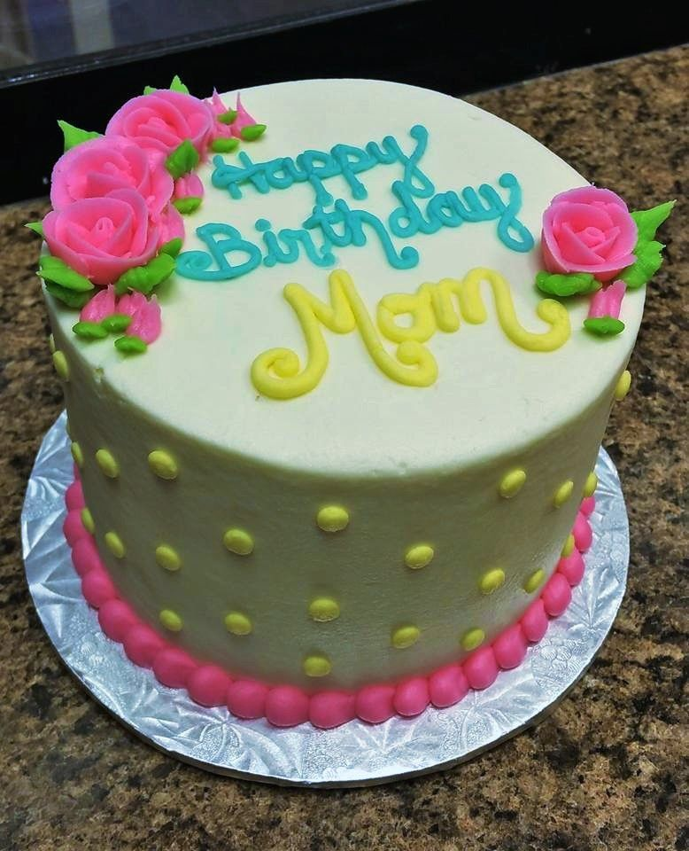 Simple Yet Stylish Birthday Cake Decorated Entirely With