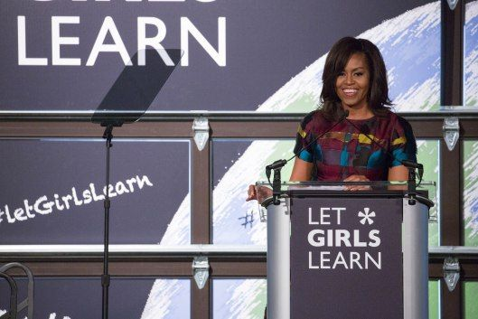 Michelle Obama asked girls to build solutions to improve access education