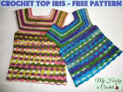 Iris Top - Size 3-5 Years - Free Crochet Pattern | Free crochet ...