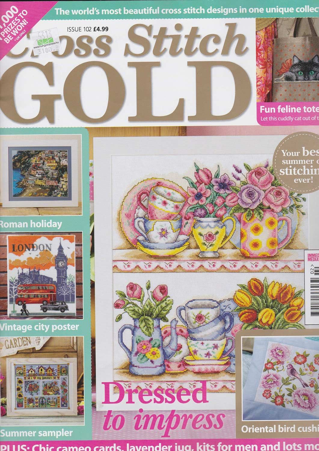 Cross Stitch Gold Issue 102 patterns pinned