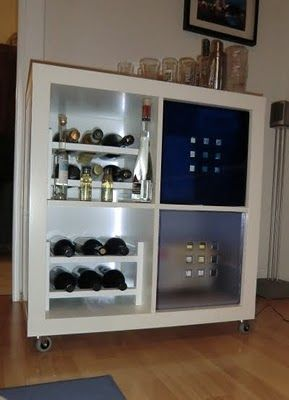 Minibar Ikea Style Ikea Hackers Ikea Kallax Shelving Mini Bar Bars For Home