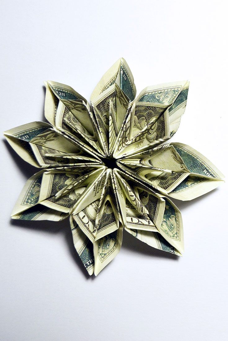 Wonderful Money Flower Origami Tutorial Dollar Diy Gift Easy And