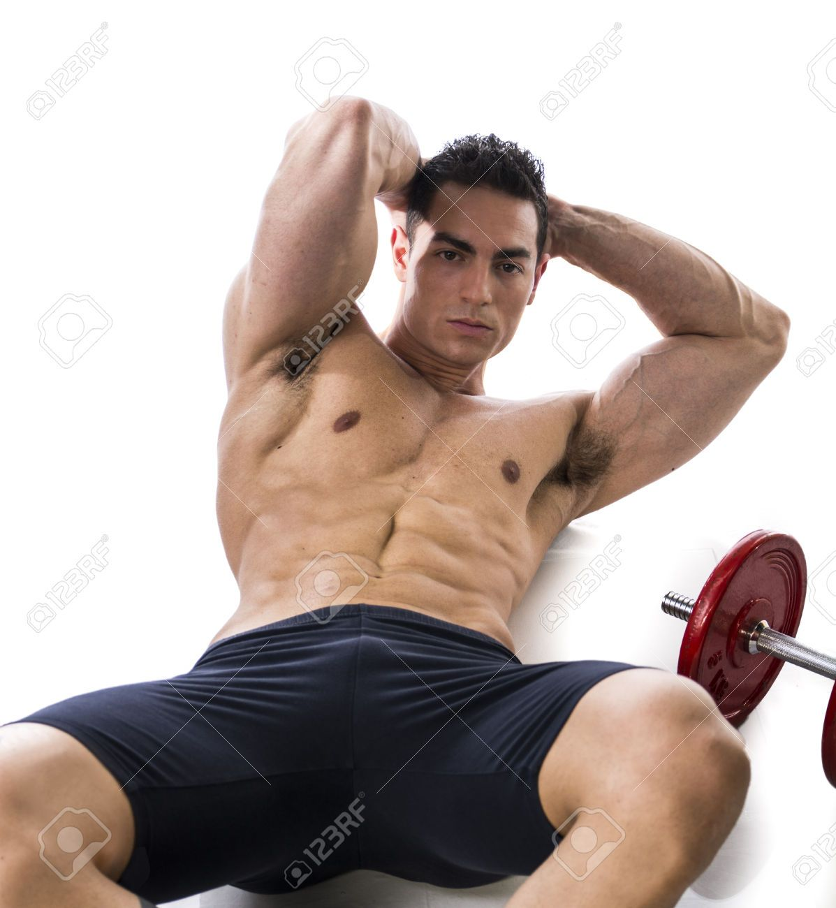 Fit Muscular Man Doing Exercises At The Gym Toning And Strengthening.. Stock Photo, Picture And Royalty Free Image. Image 29997178.
