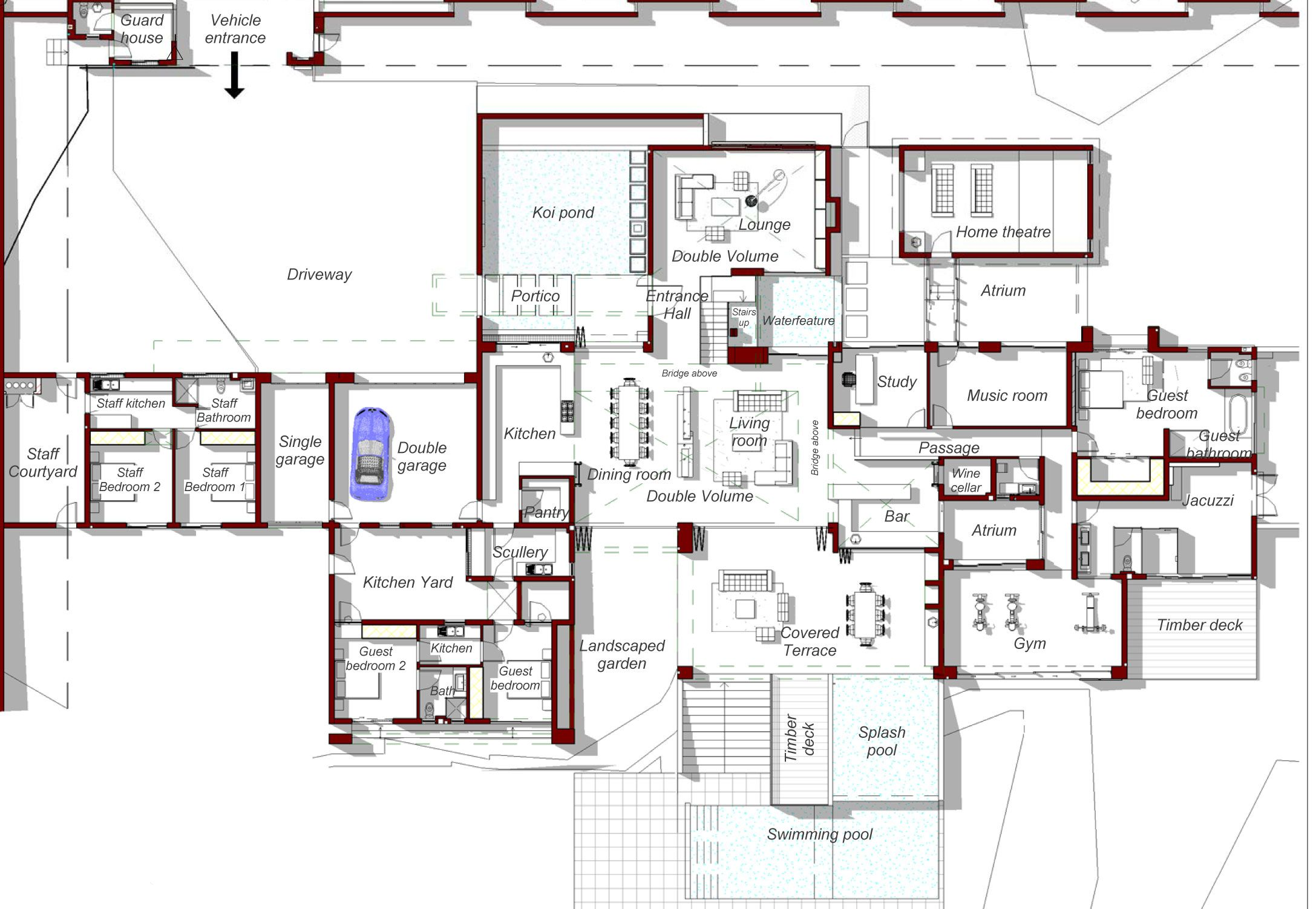 fantastic apartment complex blueprints. This fantastic estate is called House Sed and it can be found in the middle  of Bryanston Johannesburg Courtesy Nico van der Meulen Architects fi by 53 Entertainment