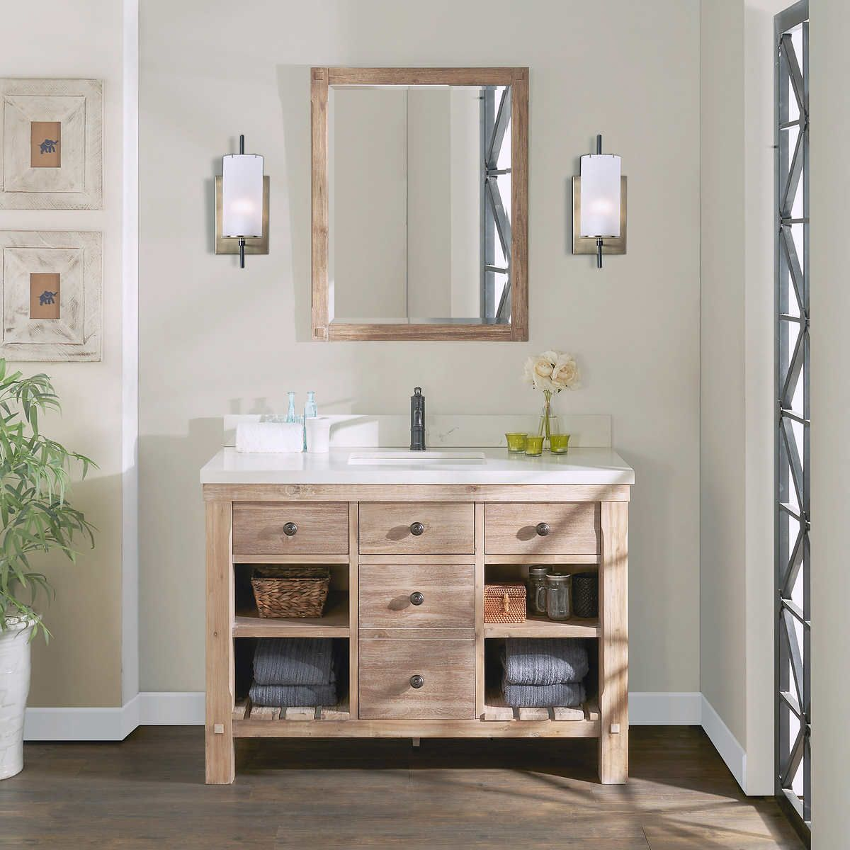 Elbe Rustic 48 Single Sink Vanity By Northridge Home In 2020 Single Sink Vanity Vanity Sink Cheap Bathrooms