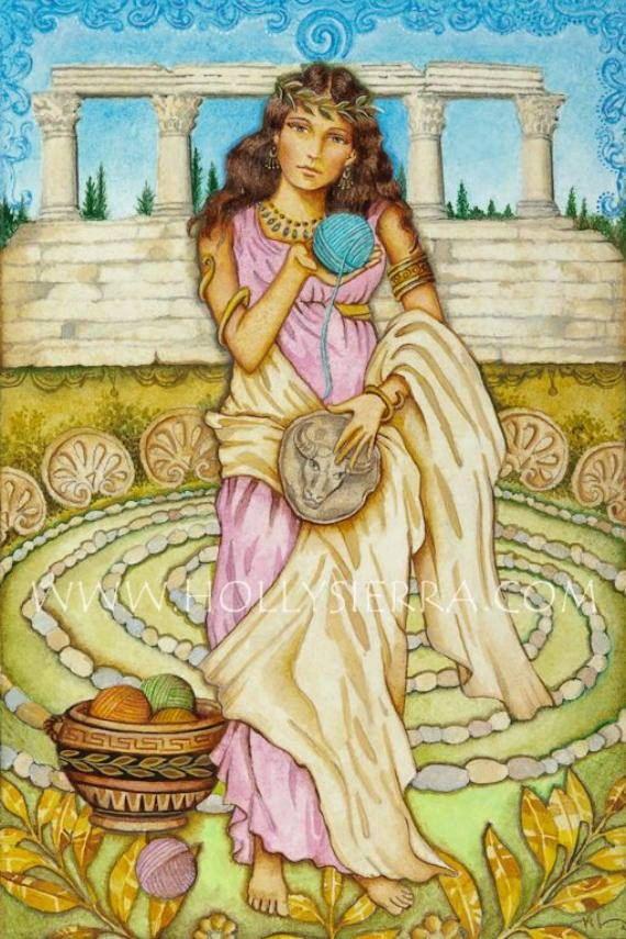 Ariadne Princess Of Greek Mythology by HollySierraArt on Etsy 319bf1d17