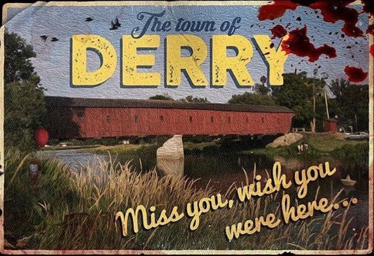 Derry Maine postcard  IT 2017 and 2019 in 2019  Beverly