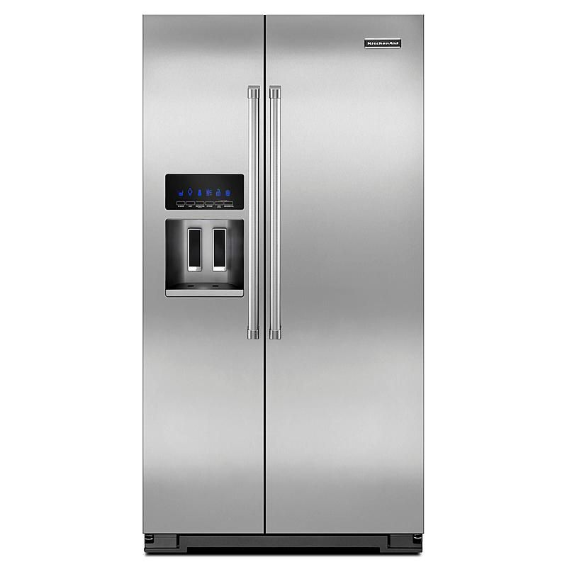 kitchenaid appliances sears appliance packages kitchenaid ksc24c8eyp 24 cu ft counterdepth sidebyside refrigerator sears outlet