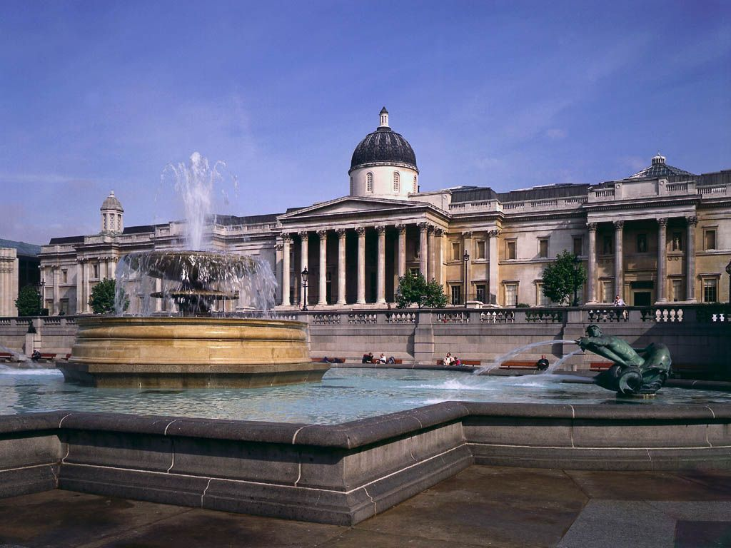 Trafalgar square and National gallery,London