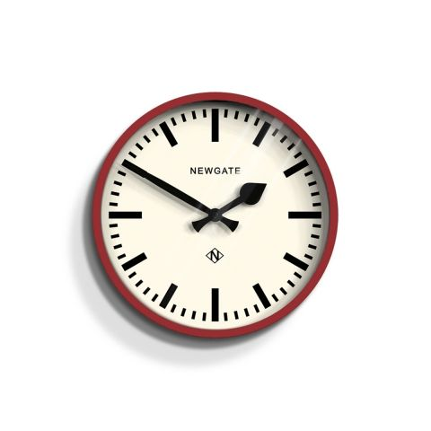 The Luggage Wall Clock In Biscuit Box Red By Newgate Clocks A Small And Contemporary Railway Station Clock Wi Best Wall Clocks Large Wall Clock Newgate Clocks
