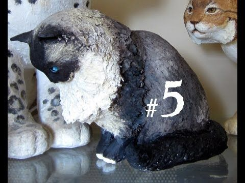 How to Make a Paper Mache Cat, Lesson 5#