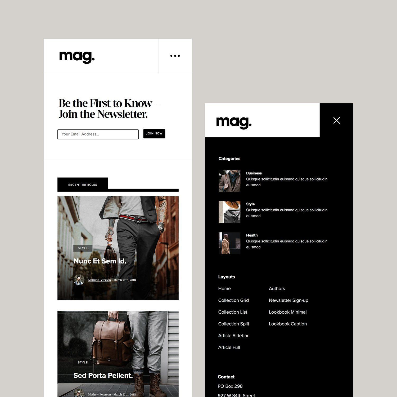 mag | magazine website design, magazine layout design, text