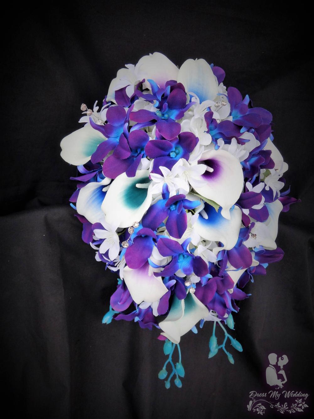 Galaxy orchid bridal bouquet #bridalbouquetpurple Dress My Wedding – Galaxy orchid bridal bouquet #whitebridalbouquets